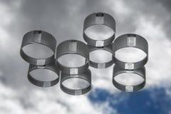 Optisches Glas gegen den blauen Himmel Stockfotografie