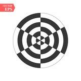 Optisches Kunstmuster mit gestreiften Linien und Kreisen Abstrakte psychedelische Illusion Hintergrund der OPkunst vektor abbildung