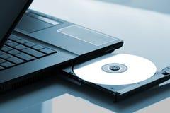 Optisches Laufwerk des Laptops lizenzfreies stockfoto
