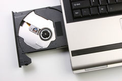 Optisches Laufwerk des Laptops Lizenzfreie Stockfotos