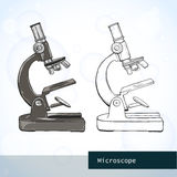 Optisches Mikroskop Stockfoto