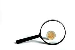 Optisches Objektiv auf weißem Hintergrund Lizenzfreies Stockfoto