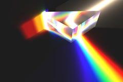 Optisches Prisma und Regenbogen Lizenzfreies Stockbild