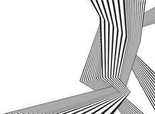 Optisk abstrakt design för svartvitt mobious vågband Arkivbilder