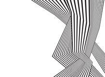 Optisk abstrakt design för svartvitt mobious vågband Arkivfoton