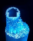 Optisk anslutning för fiber till optisk anslutning för housefiber till huset Royaltyfria Foton
