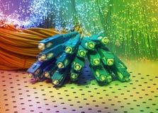 Optisk bakgrund för fiber Arkivbilder