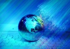 Optisk bakgrund för fiber Royaltyfri Foto