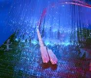 optisk bakgrundsfiber arkivbild