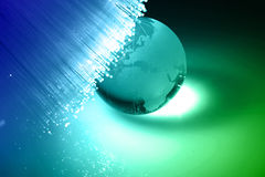 optisk fiber Arkivbild