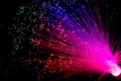 optisk fiber Arkivbilder