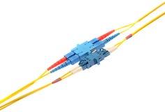 Optisk fiber Fotografering för Bildbyråer