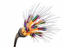 Optisk fiber 3d Arkivbilder