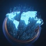 Optisk fiber för värld vektor illustrationer