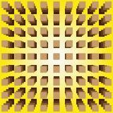 optisk illusion Arkivbilder