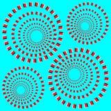 optisk illusion Arkivbild