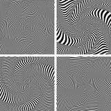 Optisk illusion av vridning som vrider rörelse Uppsättning Arkivbild
