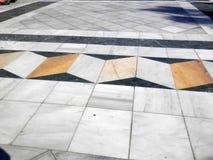 Optisk illusion för trottoar Arkivbild