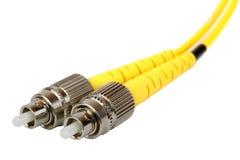 Optisk kabel för fiber arkivbild