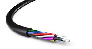 Optisk kabel för fiber royaltyfri illustrationer