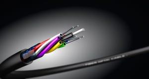 Optisk kabel för fiber stock illustrationer