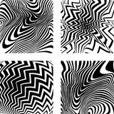 optiska bakgrunder fyra vektor illustrationer