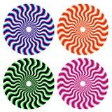 optiska dekorativa hjul Arkivfoton