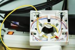 Optiska för fiber avslutar asken Arkivfoton