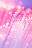optiska fibrer Fotografering för Bildbyråer