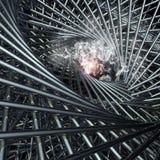 optiska former för abstrakt svart för hålillusion för desgin geometrisk illustration Arkivfoto