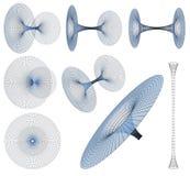 optiska former för abstrakt svart för hålillusion för desgin geometrisk illustration Royaltyfria Bilder