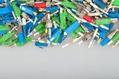 Optiska kontaktdon för fiber Royaltyfri Bild