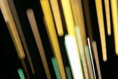 optiska ljusa linjer för fibrer Royaltyfri Fotografi
