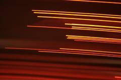 optiska ljusa linjer för fibrer Arkivbilder