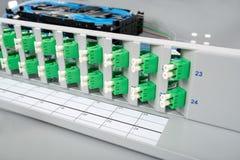 Optiska splitskassetter för fiber Fotografering för Bildbyråer
