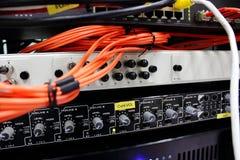Optiskt för fiber Arkivfoton