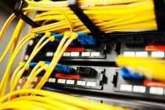 Optiskt för fiber med serveror Royaltyfria Bilder