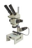 optiskt mikroskop Arkivbild