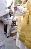 Optocht in Sevilla royalty-vrije stock afbeeldingen