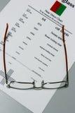 Optometría Fotografía de archivo libre de regalías