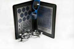 Optometric Ausrüstungs-, binokularer und Proberahmen Stockfoto