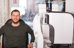 Optometric egzamin obraz royalty free