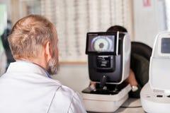 Optometric exam Stock Images