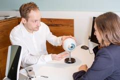 optometrie stock afbeelding