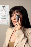 Optometrikeranblicküberprüfung stockfoto