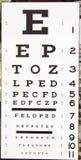 Optometrikerzeichen lizenzfreie stockbilder