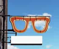 Optometrist σημάδι Στοκ φωτογραφία με δικαίωμα ελεύθερης χρήσης