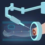 optometrist глаза диаграммы предпосылки медицинский Будущее хирургии вектор Стоковое Изображение RF