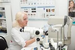 optometrist arts Stock Foto's