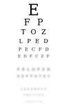 Optometrist chart Stock Photography